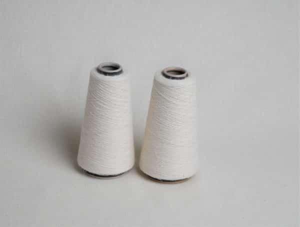Knokkon nettle-hemp-cotton yarn in a cone