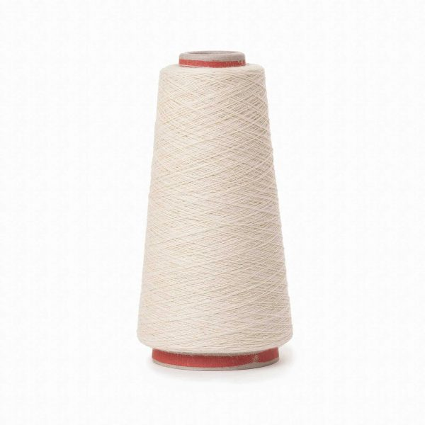 Nettle cotton yarn on small cones